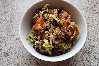 Pikanter Hack-Kraut-Salat