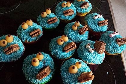 Krümelmonster Cupcakes (Bild)