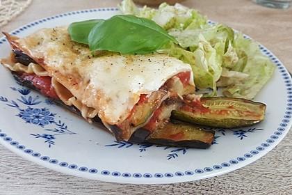 Auberginen-Zucchini Lasagne mit Ziegenkäse 1