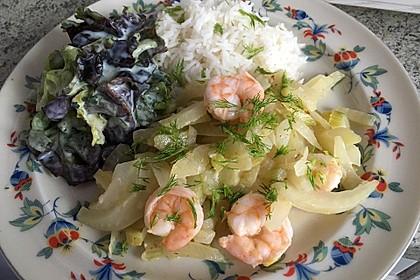 Garnelen-Fenchel-Pfanne mit Buttermilchsalat 1
