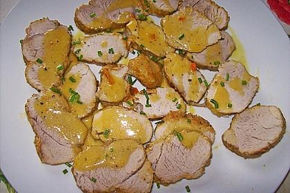 Schweinelende mit Orangen-Senf-Sauce 1