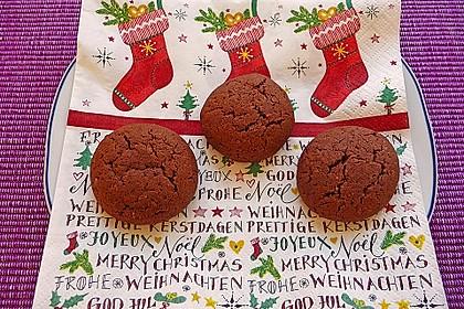 Schoko-Rum-Mandel Kekse