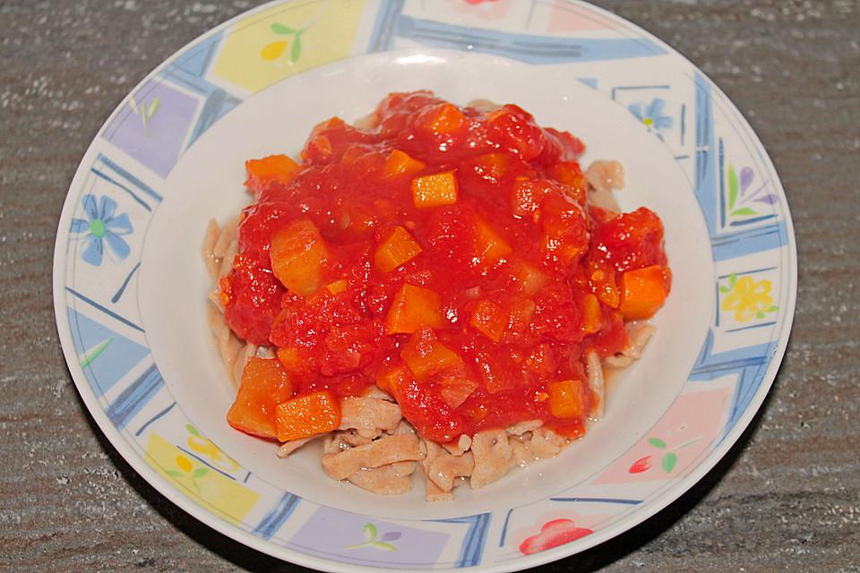 Kürbis Zucchini Tomaten Soße Von Aniza Chefkoch