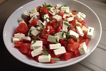 Wassermelonen-Feta Salat