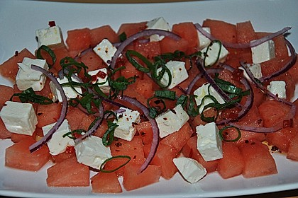 Wassermelonen-Feta Salat 9