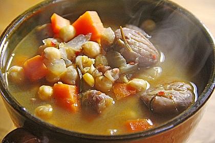 Kastanien-Kichererbsen-Suppe 1