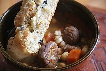 Kastanien-Kichererbsen-Suppe