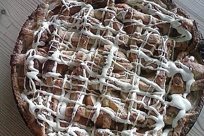 Apfel-Marzipantarte mit weißer Schokolade