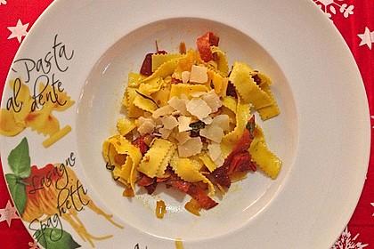 Tagliatelle e Salami con Parmesan 2