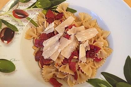 Tagliatelle e Salami con Parmesan