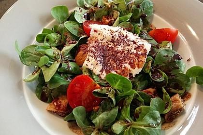 Bunter Salat mit gratiniertem Ziegenkäse, Feigen und einem Balsamico-Schoko-Dressing 5