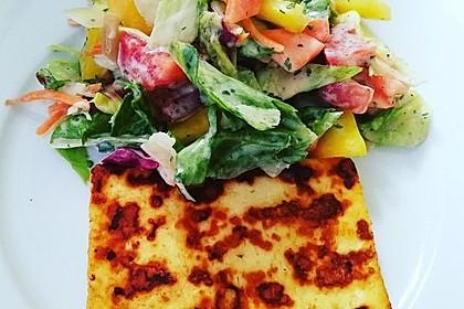 Salat-Dressing mit Joghurt (ohne Sahne) für alle Salate geeignet (Bild)