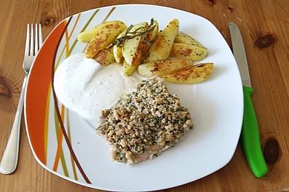Lachs mit Parmesan-Kräuter-Walnuss-Kruste 27