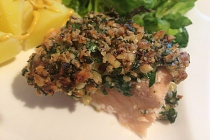 Lachs mit Parmesan-Kräuter-Walnuss-Kruste 15