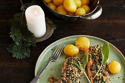 Lachs mit Parmesan-Kräuter-Walnuss-Kruste 2