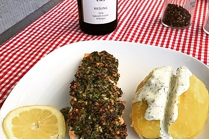 Lachs mit Parmesan-Kräuter-Walnuss-Kruste 18