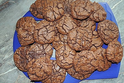 Leckere dunkle Chocolate Cookies