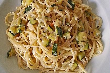 Schnelle Zucchinispagetti 2