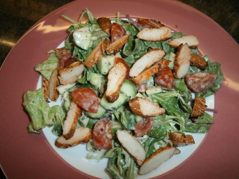 Salat Mit Putenstreifen Und Joghurtdressing Von Thevoid Chefkochde