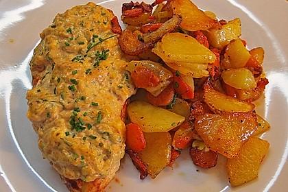Schnitzel unter Feta-Zucchini-Haube 1