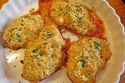 Schnitzel unter Feta-Zucchini-Haube 2
