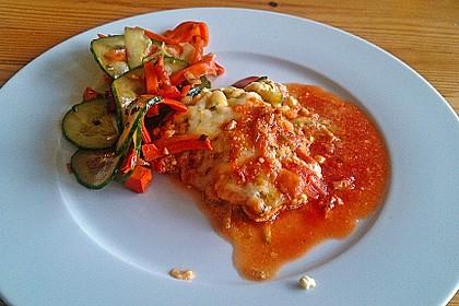 Schnitzel unter Feta-Zucchini-Haube 3