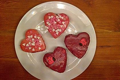 Erdbeerherzen Petits Fours 5