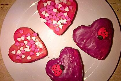Erdbeerherzen Petits Fours 7