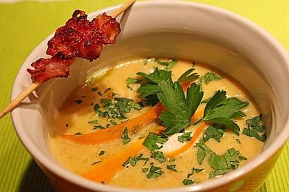 Karotten-Kokos Suppe mit leichter Currynote