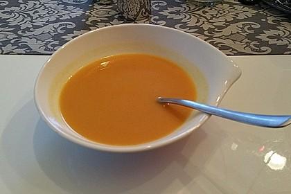 Karotten-Kokos Suppe mit leichter Currynote 1