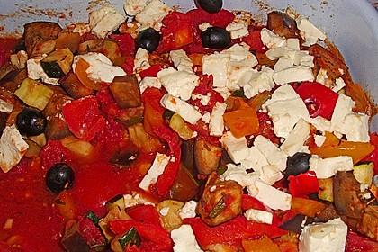 Ratatouille mit Feta-Kruste