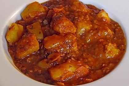 Kartoffelgulasch mit Linsen 22