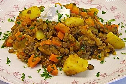 Kartoffelgulasch mit Linsen 7