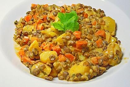 Kartoffelgulasch mit Linsen 2