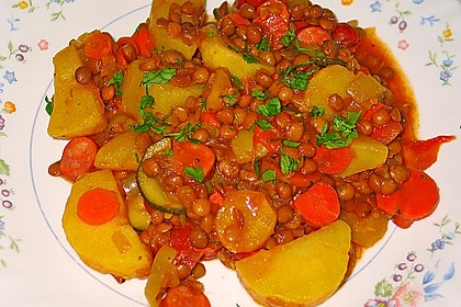 Kartoffelgulasch mit Linsen 8