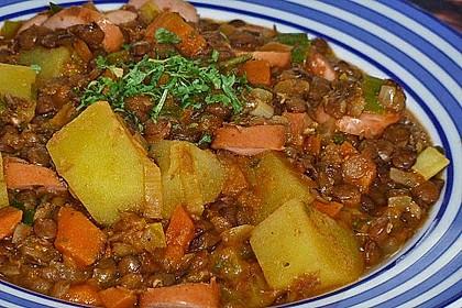 Kartoffelgulasch mit Linsen 25