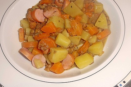 Kartoffelgulasch mit Linsen 20