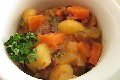 Kartoffelgulasch mit Linsen 17