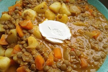 Kartoffelgulasch mit Linsen 11