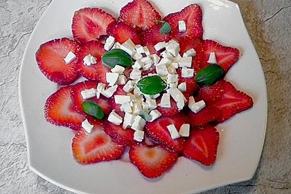 Erdbeeren mit Schafskäse 1