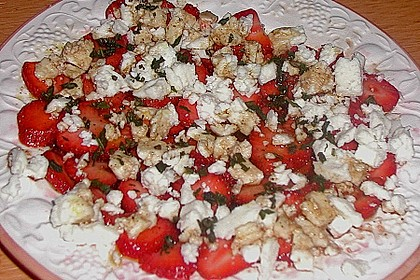 Erdbeeren mit Schafskäse 3