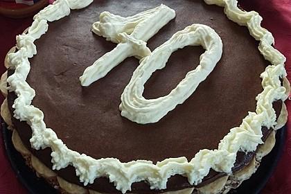 Schokoladen - Bananen Torte 9