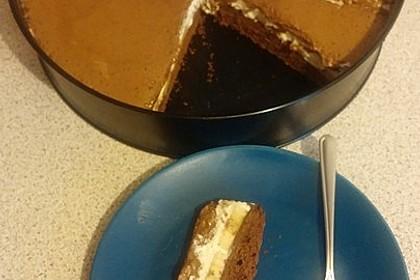 Schokoladen - Bananen Torte 45