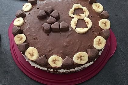 Schokoladen - Bananen Torte 50
