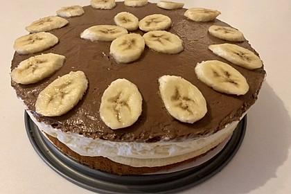Schokoladen - Bananen Torte 48