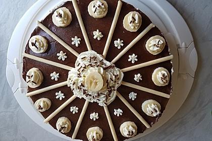 Schokoladen - Bananen Torte 17