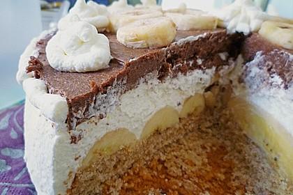 Schokoladen - Bananen Torte 55