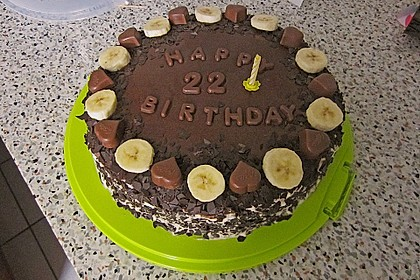 Schokoladen - Bananen Torte 22