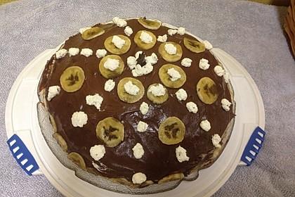 Schokoladen - Bananen Torte 60