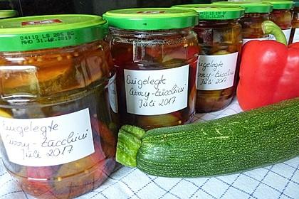 Eingelegte Curry - Zucchini 12